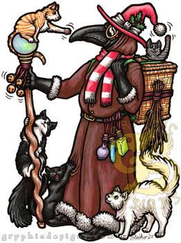 Happy Holidays 2020 Plague Doctor Santa