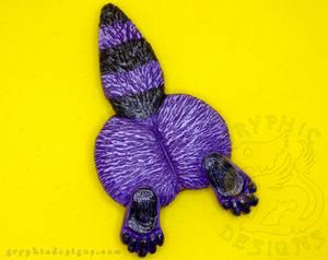 Purple Raccoon Butt Magnet