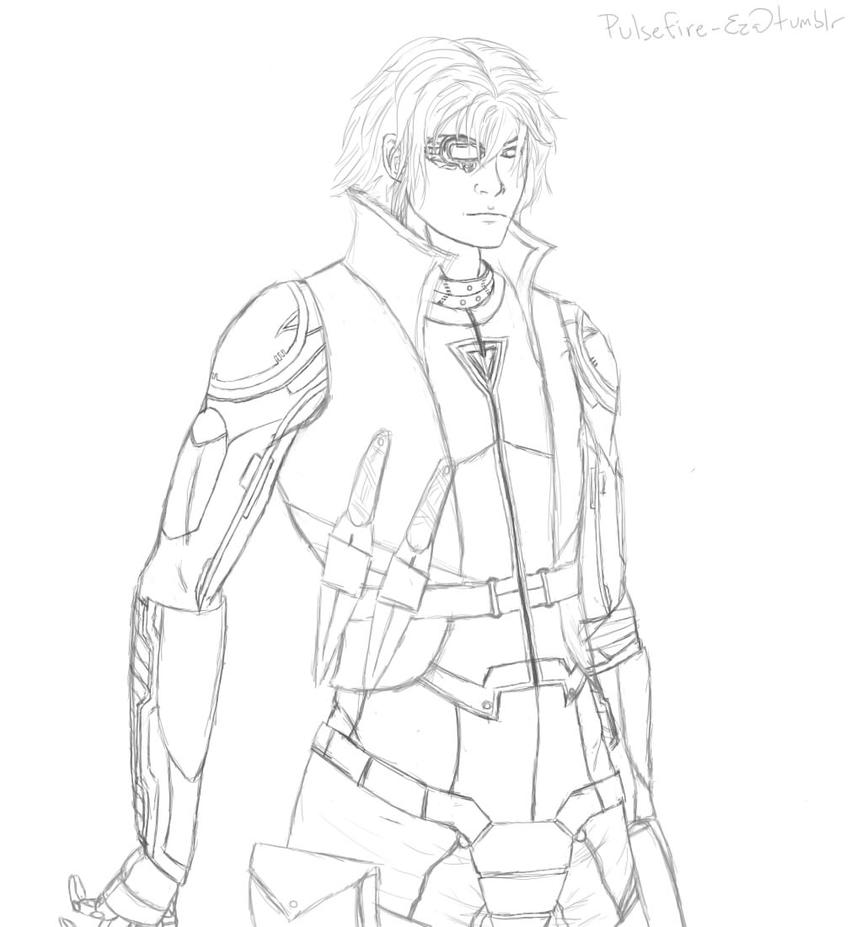 Pulsefire Ezreal WIP Line Art By Dreaming Myth