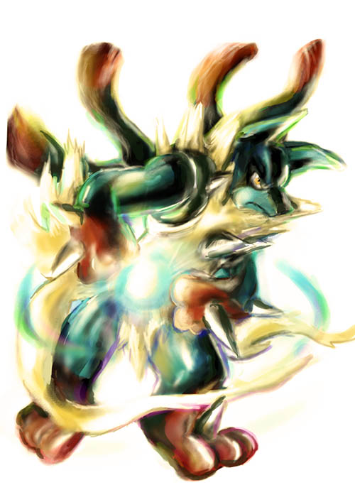 Rayquaza shiny mega evolution