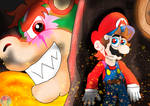 Super Mario: Giant Bowser fight
