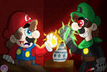 Super Mario: Shadow of a brother redraw