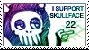 .skullface stamp. by Ponchounette