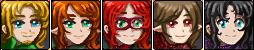 Svarik, Liron, Dark Flame, Astodel, Luciana- facey by SmilingOfTheHealer