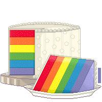 Raibow cake by SmilingOfTheHealer