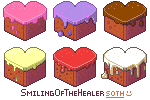 Heart cakes - FREE ICONS by SmilingOfTheHealer