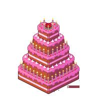 Pink heart cake by SmilingOfTheHealer