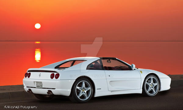 Ferrari 355 in the Sunset by Mishari-Alreshaid
