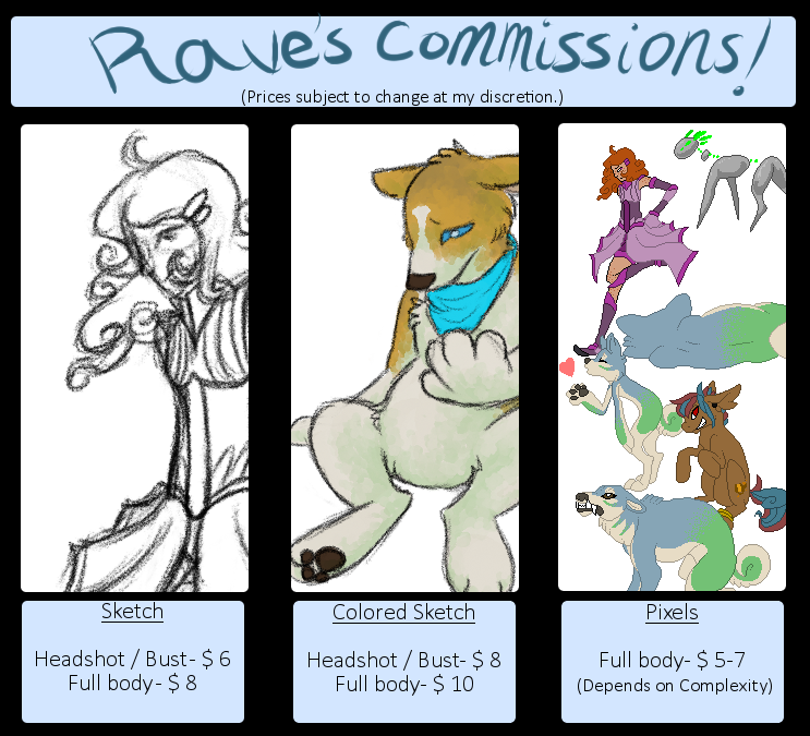 Commission Prices! by crazygirlwithasword