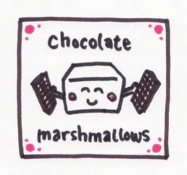 Chocolate marshmallows label