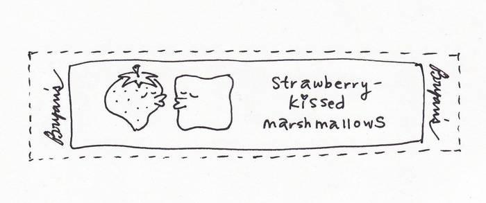 Strawberry-kissed marshmallows