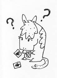 Horse + cards = confusion