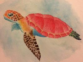 Watercolor turtle by seakliff