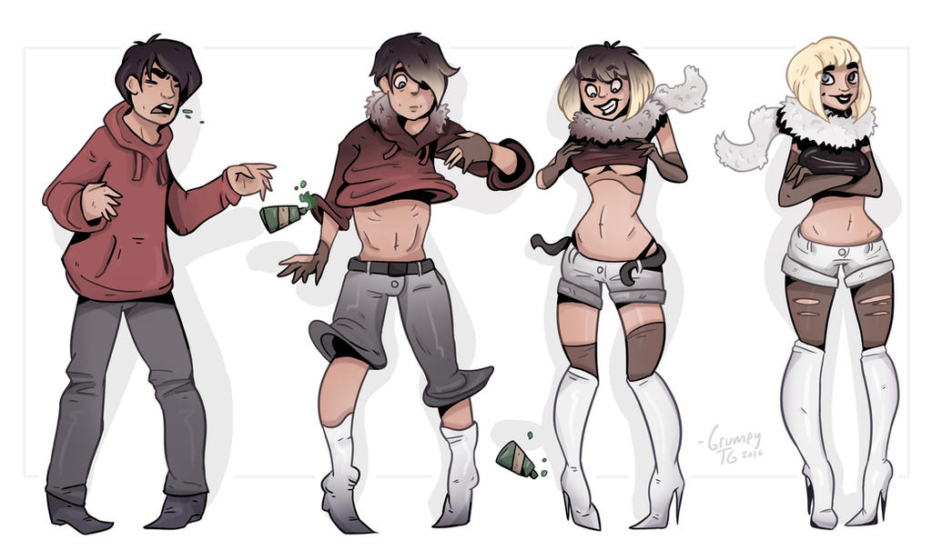 Stealing From Sis : TG Transformation by Grumpy-TG on