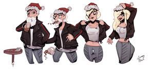 Santa Rides a HOG - TG Sequence by Grumpy-TG
