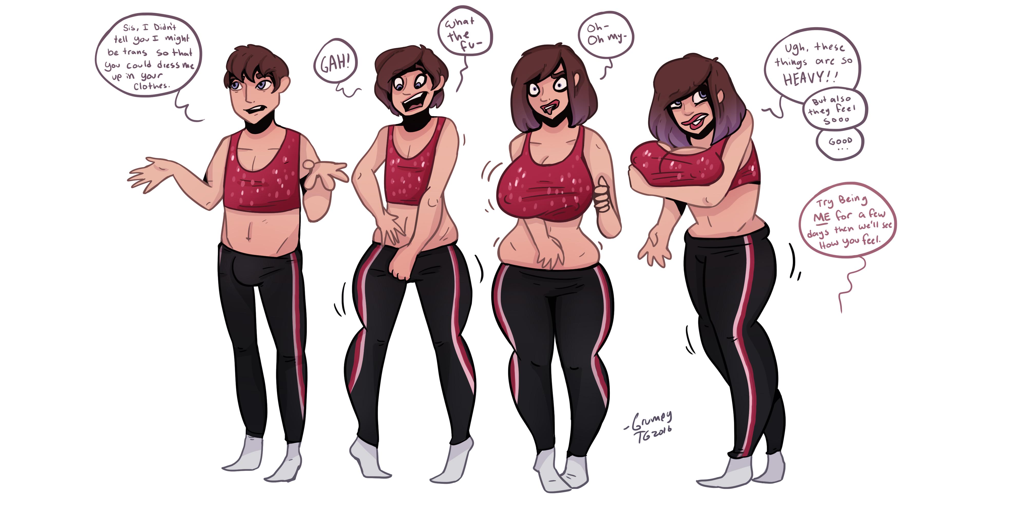 Love big boob and gender belt she's