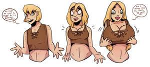 Wardrobe Malfunction - TG Sequence by Grumpy-TG