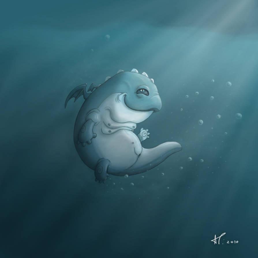 Lusitanian sea monster cub