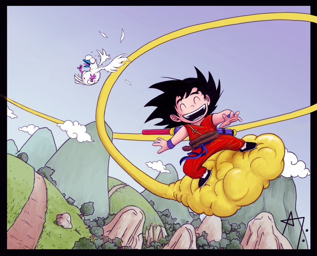 Goku goes Kintoun by Skeware