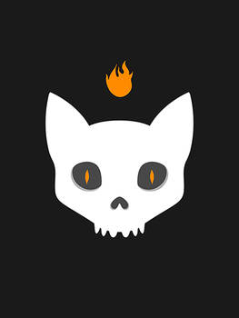 Cat Skull 4 Halloween