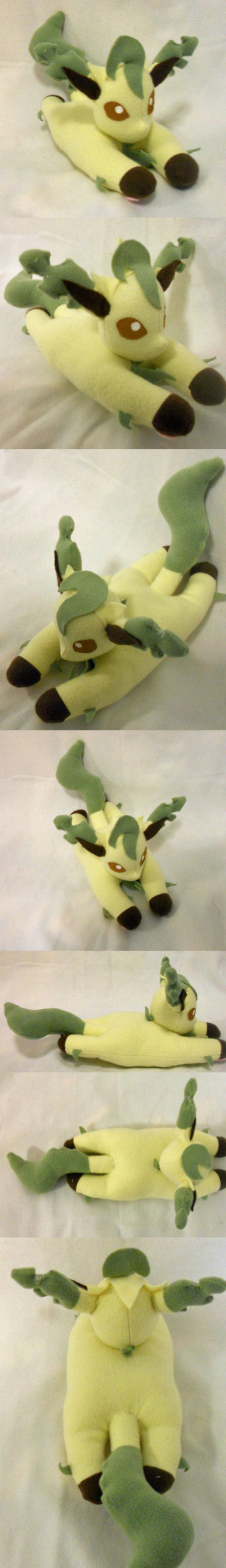 Small Leafeon Plush by PakajunaTufty