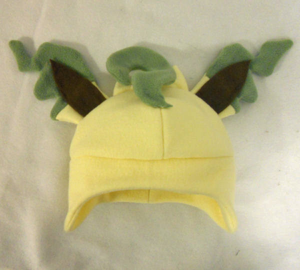 Leafeon Fleece Hat by PakajunaTufty