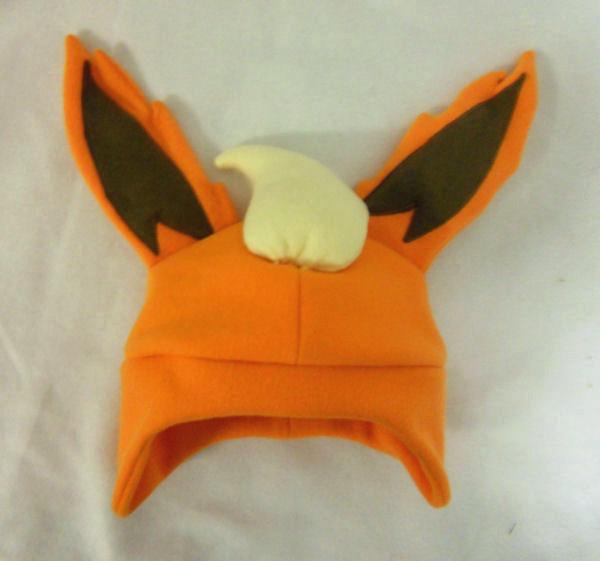 flareon fleece hat by pakajunatufty on deviantart