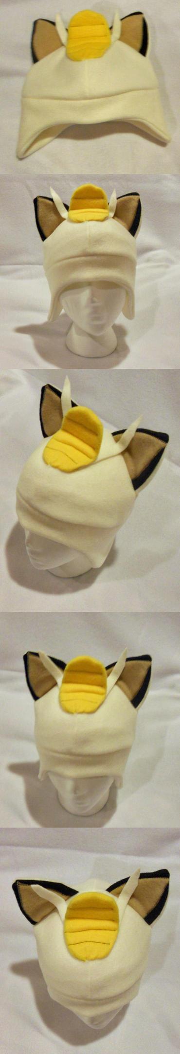 Meowth Fleece Hat by PakajunaTufty
