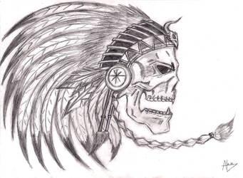 Indian skull by AlexDaftWolf
