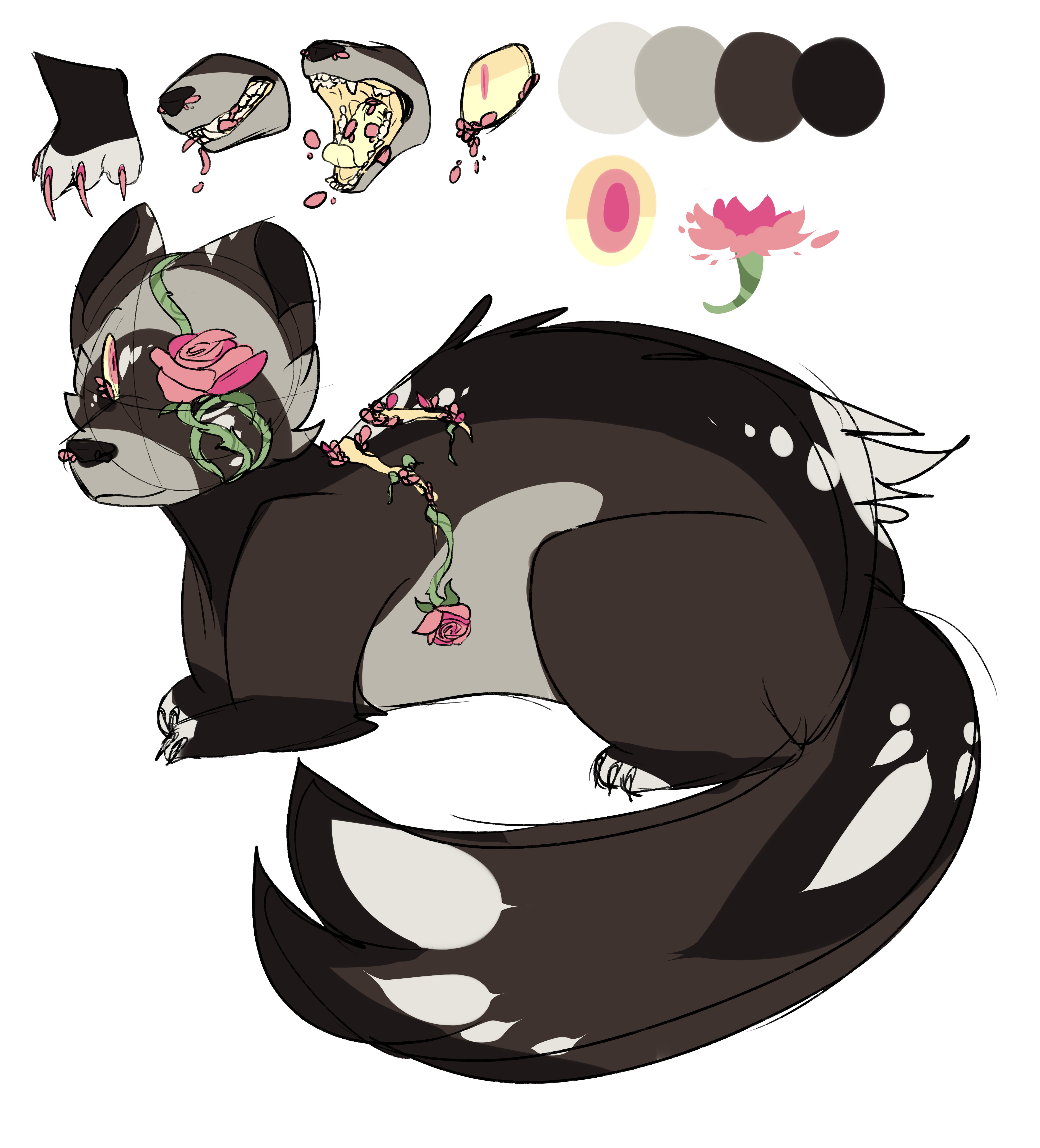 Flower Ferret Adopt HOLY SHIT CLOSED by Cylynix