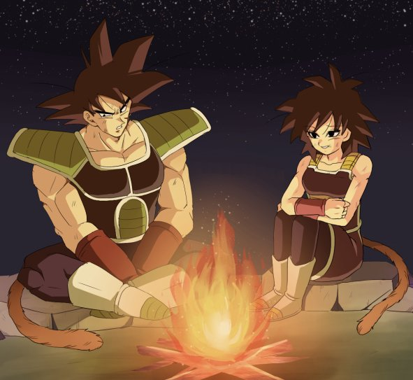 The Mushbook Gine_bardock_sitting_around_a_fire_by_rjackson244-d9s3pql