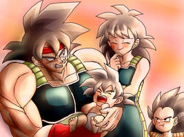 Bardock Gine and family by rjackson244