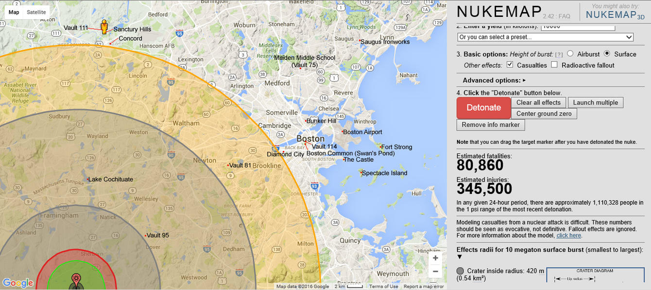 Fallout 4 locations on realworld map of boston by rjackson244 on