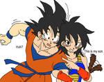 Gine introducing Goku