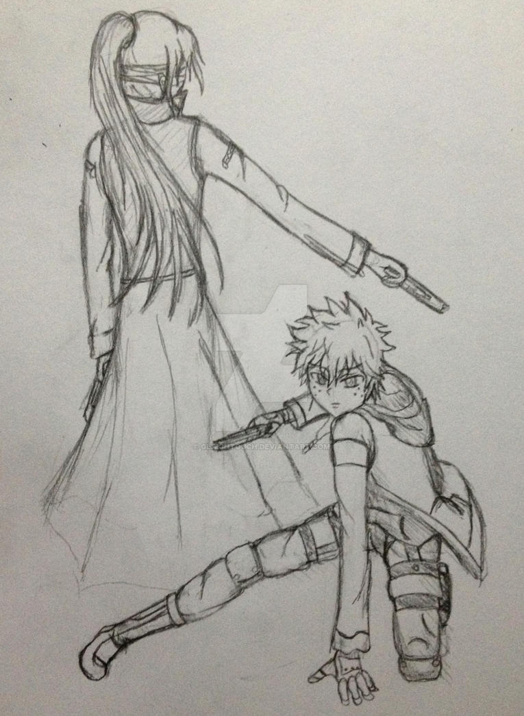 Assassin Izuku and Nightshade by GlitchTouch