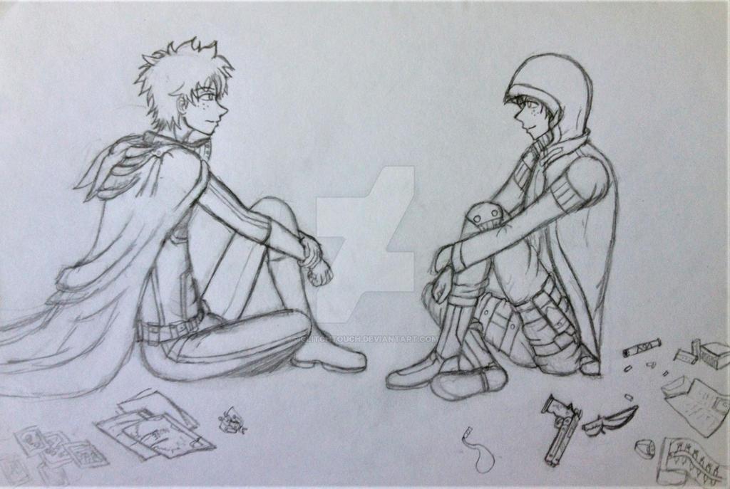 Mirror (Hero v Assassin Izuku) by GlitchTouch