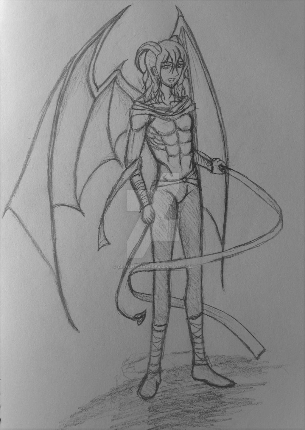 Demon Aizawa by GlitchTouch