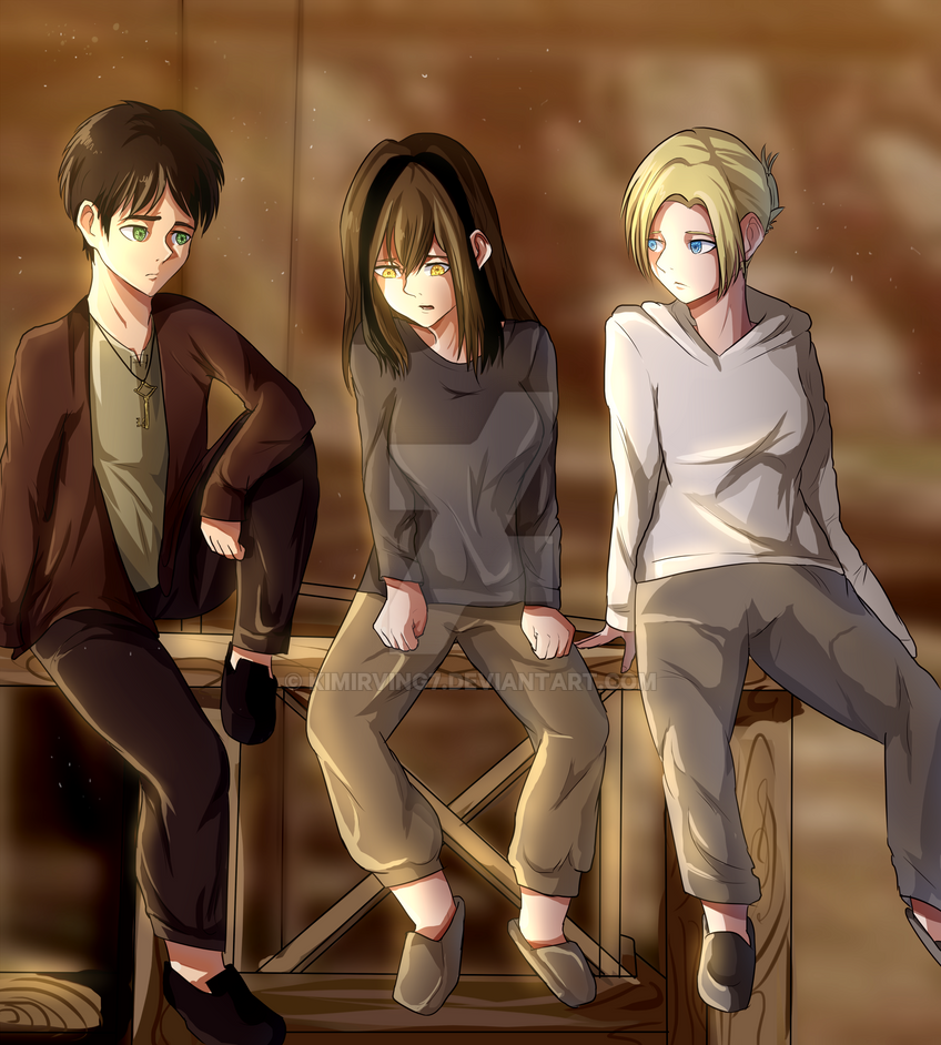 Aya, Eren, Annie As Kids By KimIrving7