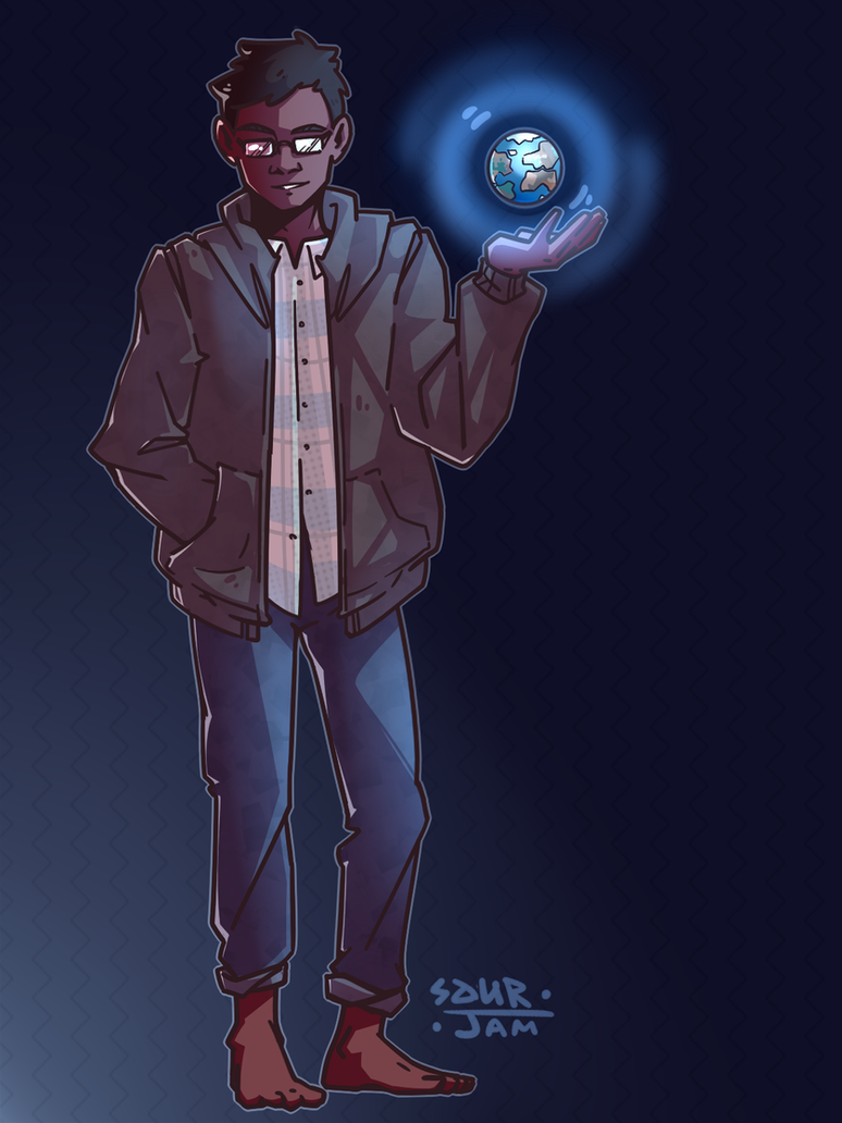 My world in hand by Zaneko8