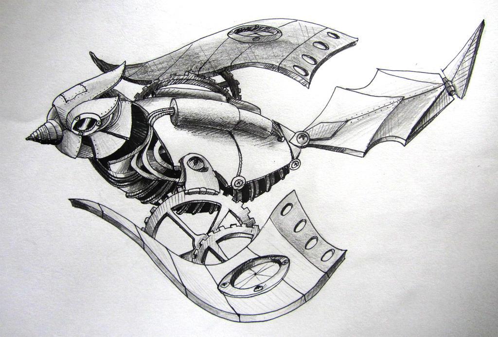mechanical bird by ewa87j on deviantart