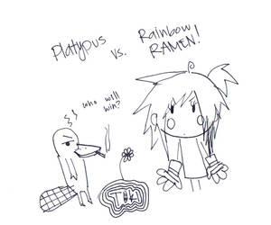 Platypus vs. Rainbow Ramen by Crescendo-Huh