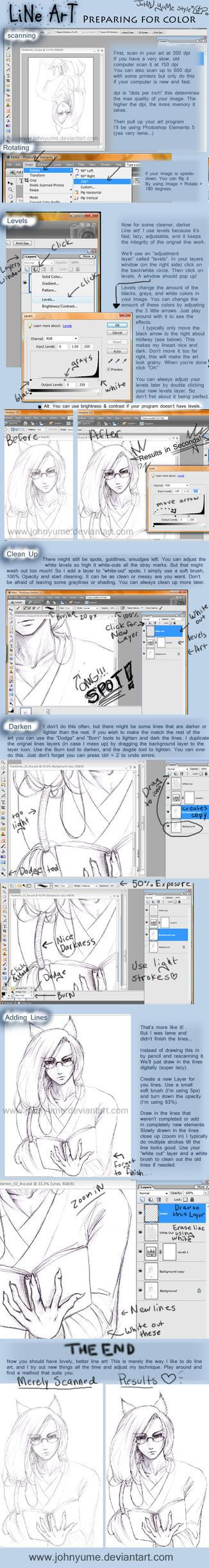 Line Art Tutorial : Line art tutorial by johnyume on deviantart