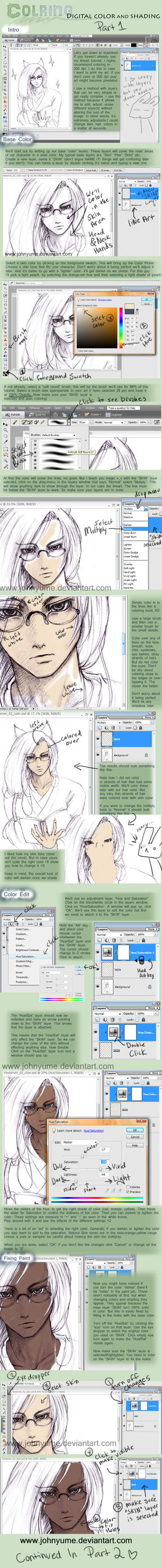 Coloring Tutorial -- Part 1 by JohnYume