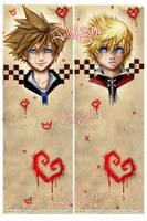 Sora and Roxasy by JohnYume