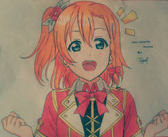 Honoka w/ her Moment Ring Outfit by Serica19