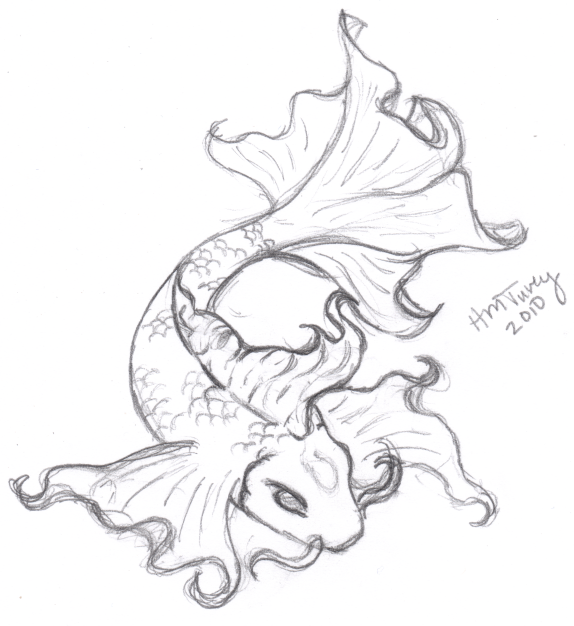Koi sketch tattoo by raynekitty on deviantart for Koi fish sketch