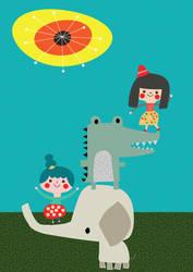 Girls on Crocs by satmack