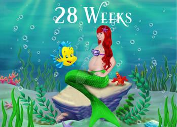28 Weeks Pregnant Little Mermaid