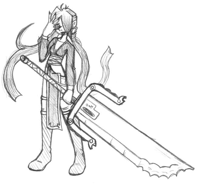 Anime Sword Drawings Anime Sword Drawing Standard