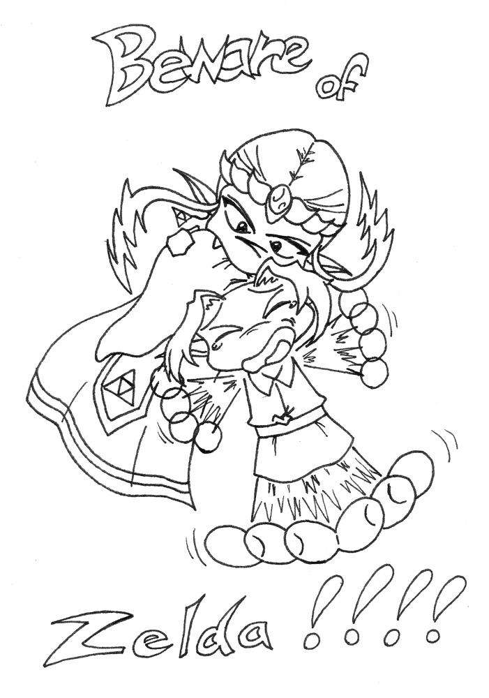 Line Art Zelda : Rabid zelda line art by archer on deviantart